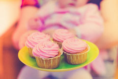 Cupcakes on holiday Stock Images