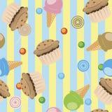 Cupcakes ice cream Stock Photos