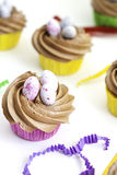 Cupcakes with icing Stock Photography