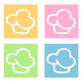 Cupcakes icons. A set of four cupcakes icons Royalty Free Stock Photo