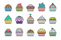 Cupcakes Icons Stock Photo