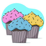 Cupcakes illustration Royalty Free Stock Image