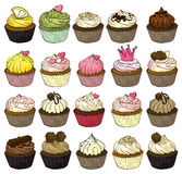 Cupcakes. Illustration of a set of cupcakes Royalty Free Stock Photography