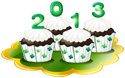 Cupcakes for 2013 Royalty Free Stock Images