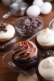 Cupcakes and Ingredients Stock Photography