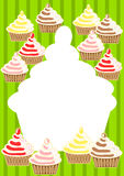 Cupcakes Invitation Card Stock Photography