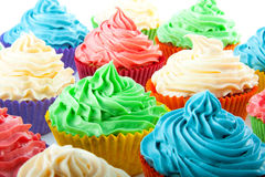 Cupcakes isolated Royalty Free Stock Photos