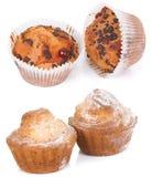 Cupcakes isolated on white Stock Photos