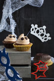 Cupcakes like a ghost. Halloween dessert. Stock Photo