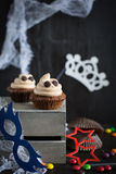 Cupcakes like a ghost. Halloween dessert. Royalty Free Stock Photography