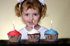 Cupcakes Little Girl Stock Photos