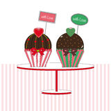 Cupcakes with love Royalty Free Stock Photo
