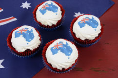 Cupcakes with maps of Australia Royalty Free Stock Photography