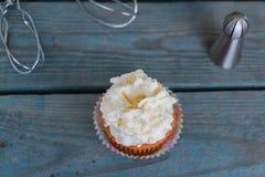Cupcakes - mening van hierboven Royalty-vrije Stock Fotografie