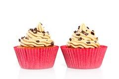 Cupcakes met chocoladevlekken Royalty-vrije Stock Foto