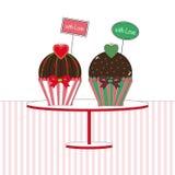 Cupcakes met liefde Royalty-vrije Stock Foto