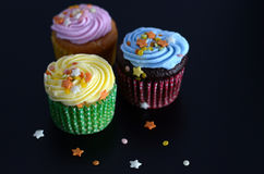 Cupcakes met sterren Royalty-vrije Stock Afbeelding