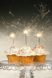 Cupcakes met sterretjes stock foto