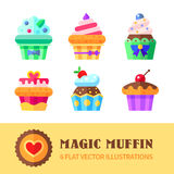 Cupcakes and muffins Stock Images