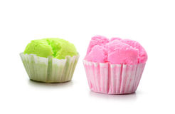 Cupcakes muffins isolated on white background Stock Photo
