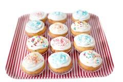 Cupcakes, muffins met bestrooit Royalty-vrije Stock Foto's