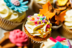 Cupcakes On A Plate Stock Photography