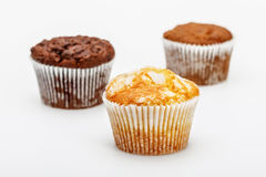 Cupcakes op een witte achtergrond Stock Foto