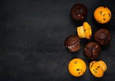 Cupcakes op Exemplaarruimte Stock Fotografie