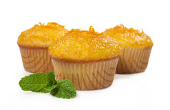 Cupcakes with orange jam Royalty Free Stock Photos