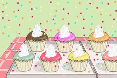 Freshly baked cupcakes Royalty Free Stock Image