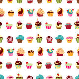 Cupcakes pattern Royalty Free Stock Photography