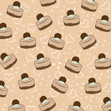 Cupcakes pattern Stock Images