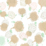 Cupcakes pattern Stock Photo