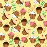 Cupcakes pattern. Stock Photography