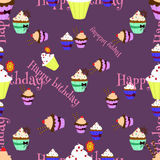 Cupcakes pattern3 Stock Photos