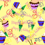 Cupcakes pattern4. Royalty Free Stock Photos