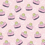 Cupcakes pattern Royalty Free Stock Image