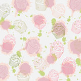 Cupcakes pattern Royalty Free Stock Photos
