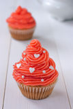 Cupcakes with pink buttercream Royalty Free Stock Images