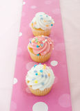 Cupcakes with pink icing Royalty Free Stock Photo