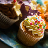 Cupcakes on a plate Royalty Free Stock Image