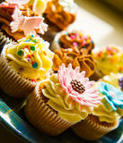 Cupcakes on a plate Royalty Free Stock Photos