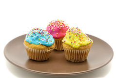 Cupcakes on plate Stock Images