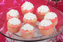 Cupcakes on a Platter Royalty Free Stock Images