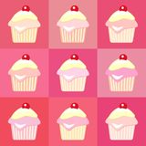 Cupcakes pop art Royalty Free Stock Photos
