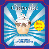 Cupcakes  poster design Royalty Free Stock Image