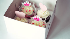 Cupcakes for a princess royalty free stock photography