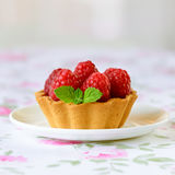 Cupcakes with raspberries Royalty Free Stock Photo