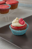 Cupcakes with red heart Stock Photo