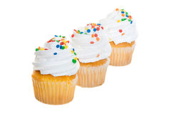 Cupcakes in a Row Royalty Free Stock Images